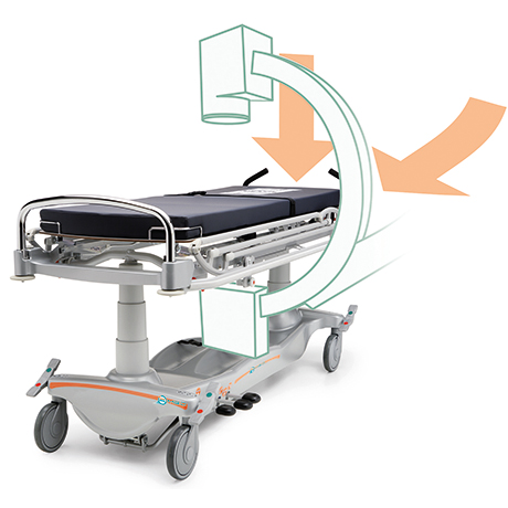 Mattress platform allows full length x-rays